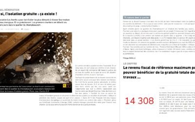 Aubriat dans la presse : Vosges Matin, Isolation à 1 euro